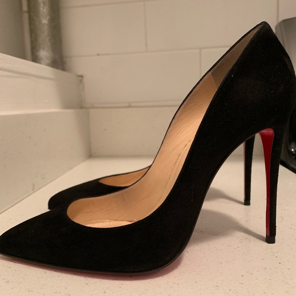 258370f585 Christian Louboutin Shoes - Christian Louboutin Pigalle Follies Black Suede